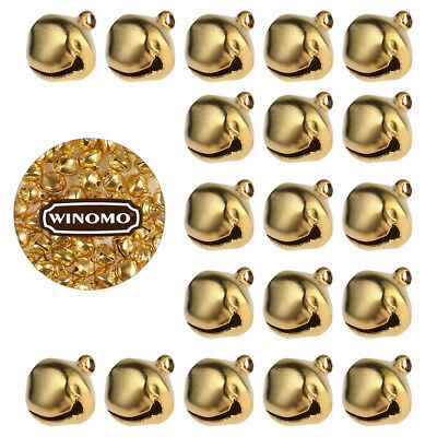 WINOMO 100PCS Jingle Bells 12mm Decorative Small Supply for Jewelry Wedding Xmas