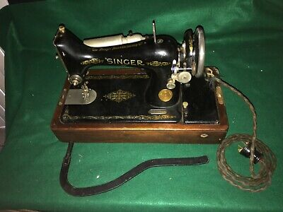 Antique Singer Sewing Machine Model # AA004692 & Bar Untested As Is Parts &