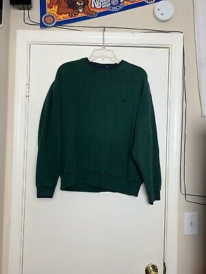Vintage 90s Nautica Sweatshirt Crew Neck Mens Sz Medium Long Sleeve Dark Green