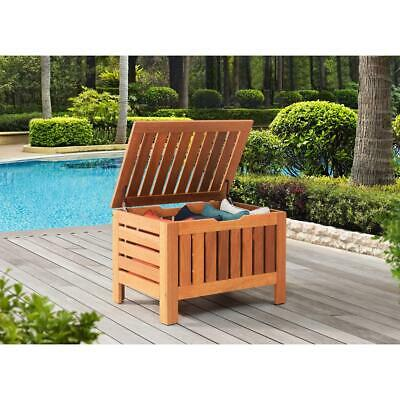 Astonishing Hampton Bay Outdoor Wood Deck Box With Inner Storage Bag Pdpeps Interior Chair Design Pdpepsorg