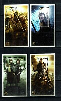 New Zealand: 2002 Lord of the Rings (series 3) Return of the King MNH 6 m/s set