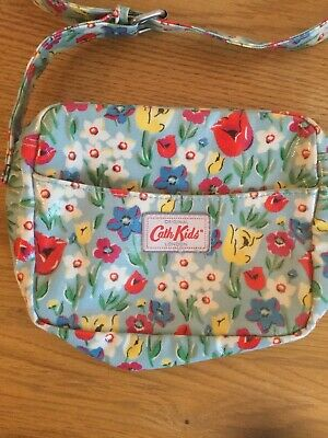 Cath Kidston Cath Kids small Blue Tulips floral across Body Bag Zip Fastening