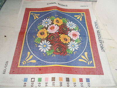 Roses in a Blue Vase Grafitec Printed Tapestry//Needlepoint Canvas