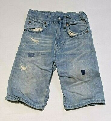 H&M light blue age 4 - 5 years jeans pants trousers crops distressed ~c382
