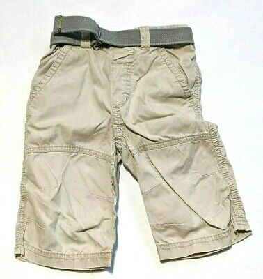 Designer NEXT age  3 - 4 years beige cargo pants trousers crops ~c386