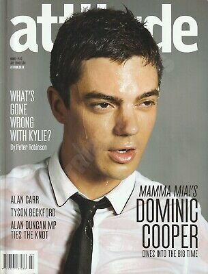 Attitude Magazine Dominic Cooper Kylie Critque July 2008 Gay