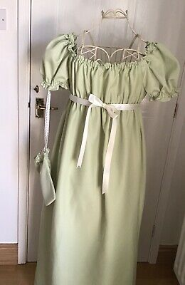 Regency/Jane Austen style dress 16 Adjustable —NEW