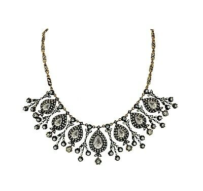 Magnificent Century Antique Ottoman Style Sultan's Drop Necklace With Rhinestone