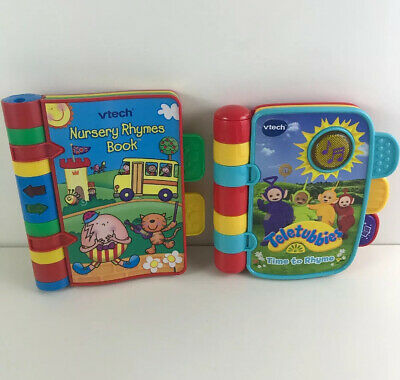 Vtech Nursery Rhymes & Teletubbies Sounds Lights Electronic Book Toy Bundle