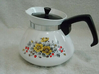 Vtg 1971 Corning Bantry 6 Cup Tea Pot Garden of Tea Pot Series Excellent