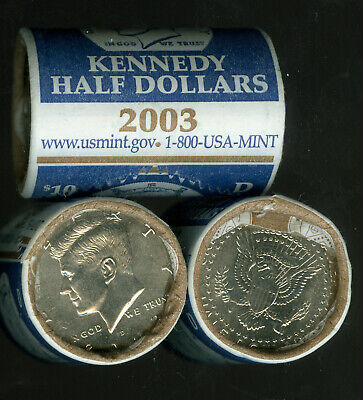 Uncirculated Mint or Bank BU 1984 Half Dollar D Roll From Bag