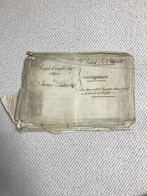 1727-1808 Vellum Deed Of Coveyance Indenture! Many Involved! Yorkshire.