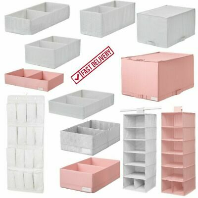 IKEA Wardrobe Storage Chest Drawer Organiser Clothes Box with Compartments NEW