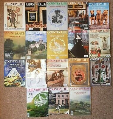 Country Life Magazine Job Lot 18 Copies Vintage Collection