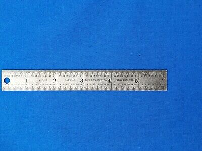 "Starrett No 600 6"" Tempered Steel Ruler  - used"