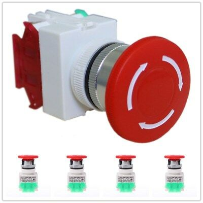 New Emergency Stop Switch Push Button Mushroom Shut Off Switches