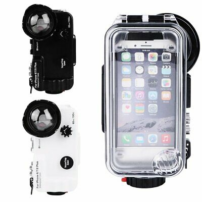 SeaFrogs 60m/195ft Underwater Diving Case w/ Bluetooth For iPhone X 6 7 8 Plus