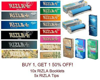 Genuine All Rizla Regular King Size Rolling Papers Filter Tips Rolling Machine