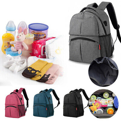 Multi-use Large Mummy Bag Diaper Nappy Backpack Mom Changing Travel Bag UK