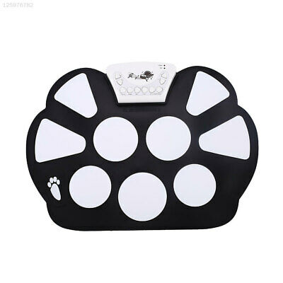 Lightweight Portable Electronic Roll Up Drum Pad Silicon Foldable With Stick