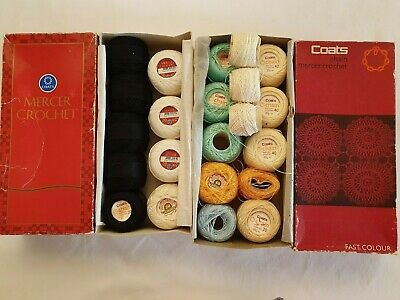 2 boxes Assorted boxed vintage crochet thread