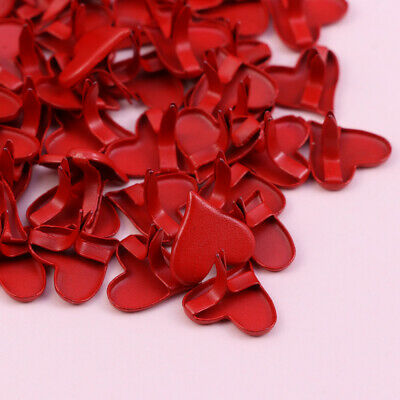 50pcs Mini Brads Practical Romantic Heart Brads for Scrapbooking Crafts Making
