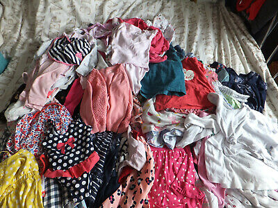 Baby Girls 12-18  Clothing Bundle 120 Pieces Next Gap Kath Kids M&S George F&F