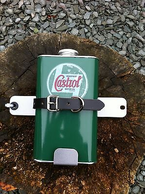 Lambretta Oil Can Holder And Replica Can Spare Wheel Mount In Silver