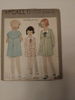 Antique Sewing Pattern Girl's Dress # 6644
