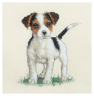 JACK RUSSELL TERRIER PUP DOG, Full cross stitch kit + all materials FIDO STUDIO