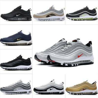 Mens Womens Air Max-97 Sport Shoes Breathable Comfy Gym Running Sneaker Trainers
