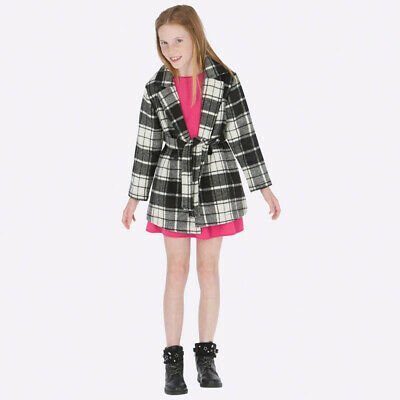 New Mayoral Girls checked belted coat, Age 8 years (7417)