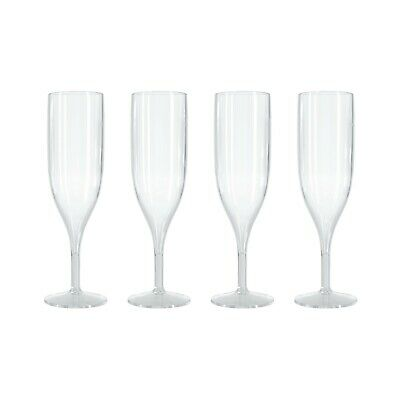 Clear Champagne Prosecco Flutes Glasses 125ml CE Marked Virtually Unbreakable