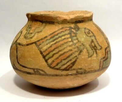 Rare Vase Decorated with - Valley Indus - Harappa 2000 BC - Painted Terracotta