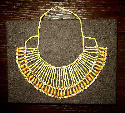 Collier Egyptian Beads Gold - 664/332 BC - Egyptian Gilded Mummy Necklace