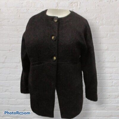 Zara Girls Jacket Wool Blend Brown Size 11/12