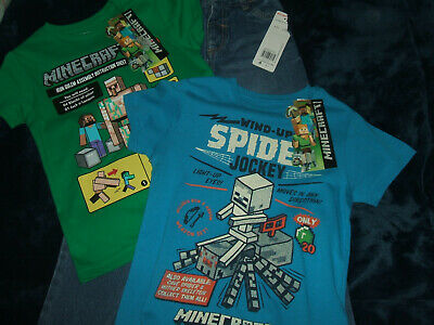 BNWT Age 4-5 Years Boys Minecraft T-Shirts & Jeans - Marks & Spencer & F&F