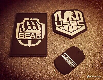Escape from Tarkov morale patch set including BEAR, USEC anddog tag set #gaming