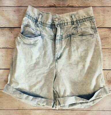 80's Vintage Jordache Original Acid Wash High Waist Womens Jean Denim Shorts