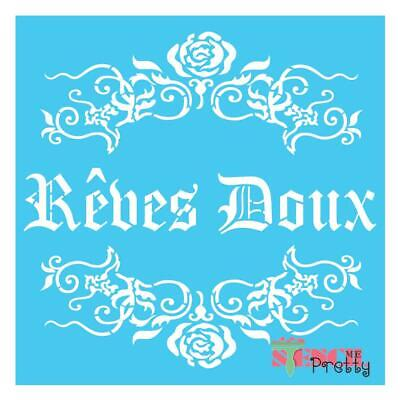 French Reves Doux stencil template