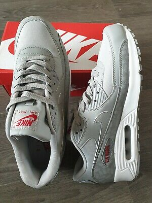 NIKE AIR MAX 90 43 chaussures hommes grise rouge EUR 65,00