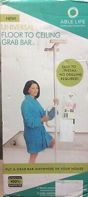 Able Life Universal Floor to Ceiling Grab Bar (Open Box)
