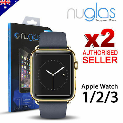 2X Genuine NUGLAS Tempered Glass Screen Protector for Apple watch Series 1/2/3/4