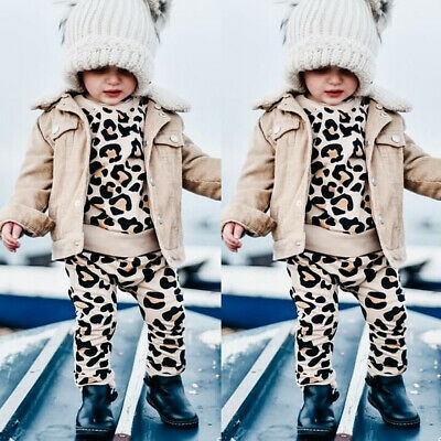 Toddler Baby Kids Boy Girl Clothes Sweatshirt Tops Pants Outfits Sets Tracksuits