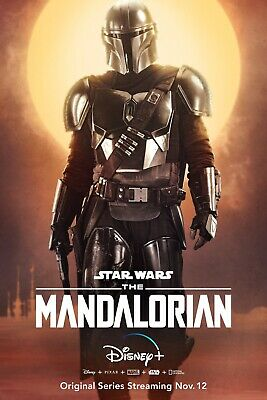 Star Wars The Mandalorian TV movie Poster #1 sizes 12x18 16x24 24x36 32x48