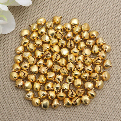 WINOMO 100PCS Jingle Bells Small Decorative Supply for Wedding Christmas Jewelry