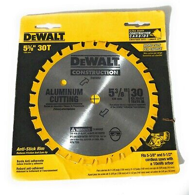 DEWALT 5-3//8-Inch 30 Tooth Aluminum and Non-Ferrous Metal Cutting Saw Blade 20mm