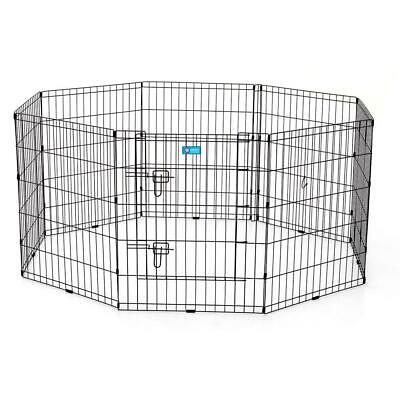American Kennel Club 30 in. Collapsible Pet Exercise Pen with Dual Latch Door