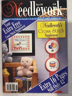 Needlework Magazine March 1993 + Free Supplement