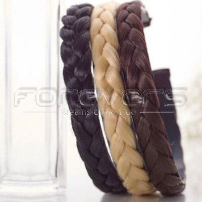 TOP SOLD Women Hair Braided Plaited Plait Band Hairband Headband Synthetic New